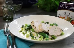 Chicken Breast Stuffed with Herby Fetta recipe made with Lemnos Smooth Fetta