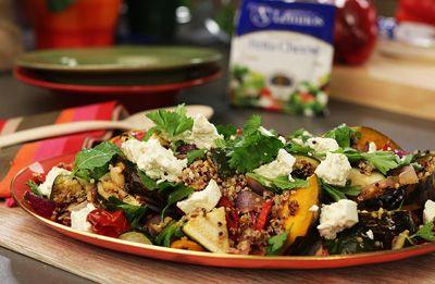 Warm Salad of Roast Pumpkin, Quinoa, Lemon & Fetta recipe made with Lemnos Fetta