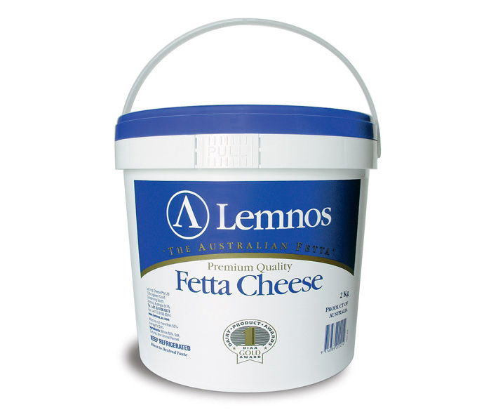 Lemnos Full Cream Fetta 2kg. Servings per Pack: 66.5, Serving Size: 30g