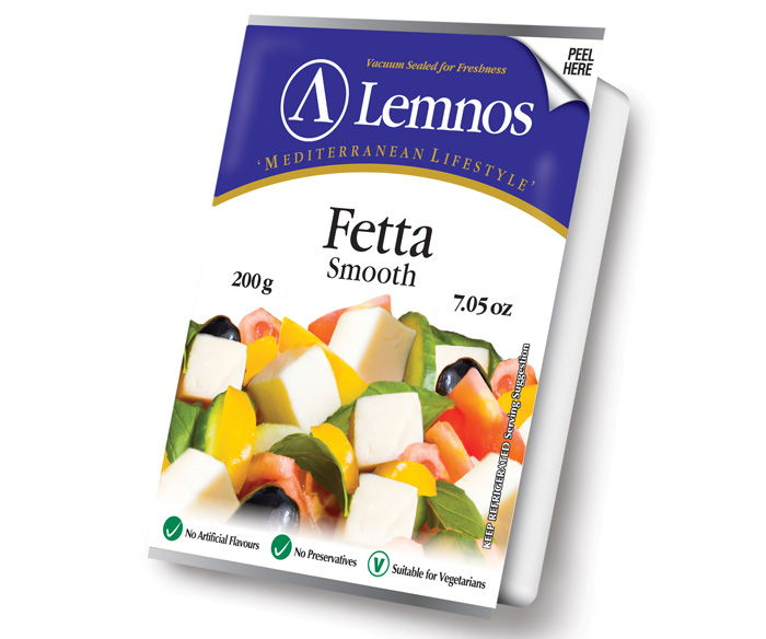 Lemnos Smooth Fetta – 200g. Servings per Pack: 8, Serving Size: 25g
