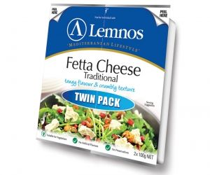 Lemnos Fetta Cheese Traditional - Tangy Flavour and Crumbly Texture - Twin Pack (200g)