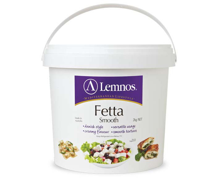 Lemnos Smooth Fetta 2kg. Servings per Pack: 80, Serving Size: 25g