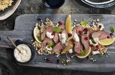 Minted Lamb with Fetta & Yoghurt recipe made with Lemnos Smooth Fetta