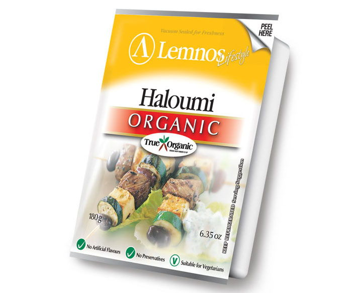 Lemnos Organic Haloumi – 180g. Servings per Pack: 6, Serving Size: 30g