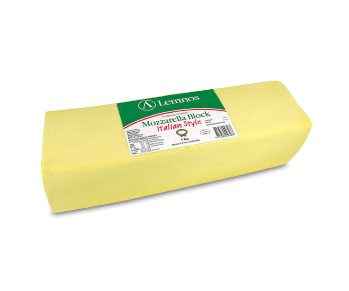Lemnos Mozzarella Block Cheese – 5kg (Export Quality)
