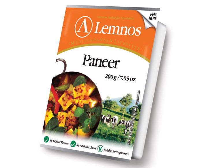 Lemnos Paneer - 200g. Servings per Pack: 4, Serving Size: 50g