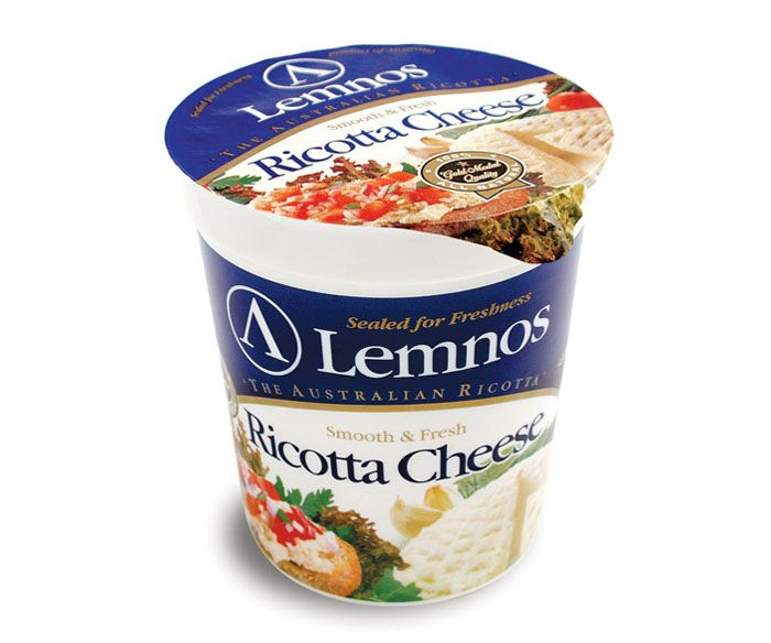 Lemnos Smooth Full Cream Ricotta – 500g. Servings per Pack: 20, Serving Size: 25g