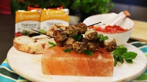 Spicy Lamb & Haloumi Kofta in Red Sauce recipe made with Lemnos Cyprus Style Haloumi Cheese