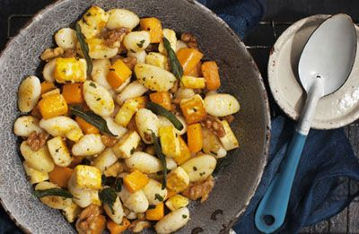Toasted Haloumi Gnocchi with Sage & Walnuts recipe made with Lemnos Cyprus Style Haloumi Cheese