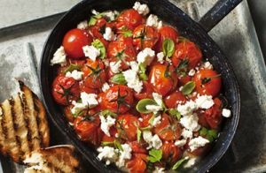 Tomato Stew with Fetta on Toast recipe made with Lemnos Traditional Fetta