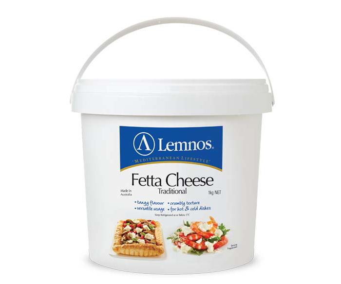 Lemnos Full Cream Fetta 1kg. Servings per Pack: 33, Serving Size: 30g