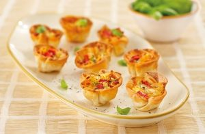 Chargrilled Capsicum Tartlets Recipe made with Lemnos Haloumi