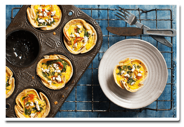 Crunchy Tortilla Cups dish prepared with Lemnos Traditional Fetta