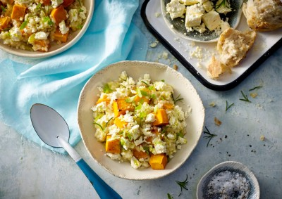 Roasted Pumpkin, Leek and Fetta Risotto Recipe made with Lemnos Traditional Fetta Cheese