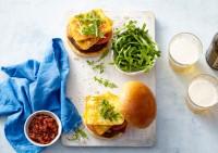 Eggplant and Haloumi Burgers recipe made with Lemnos Haloumi cheese