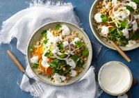 Whole Food Lunch Bowl with Fetta Yoghurt Recipe made with Lemnos Smooth Fetta Cheese