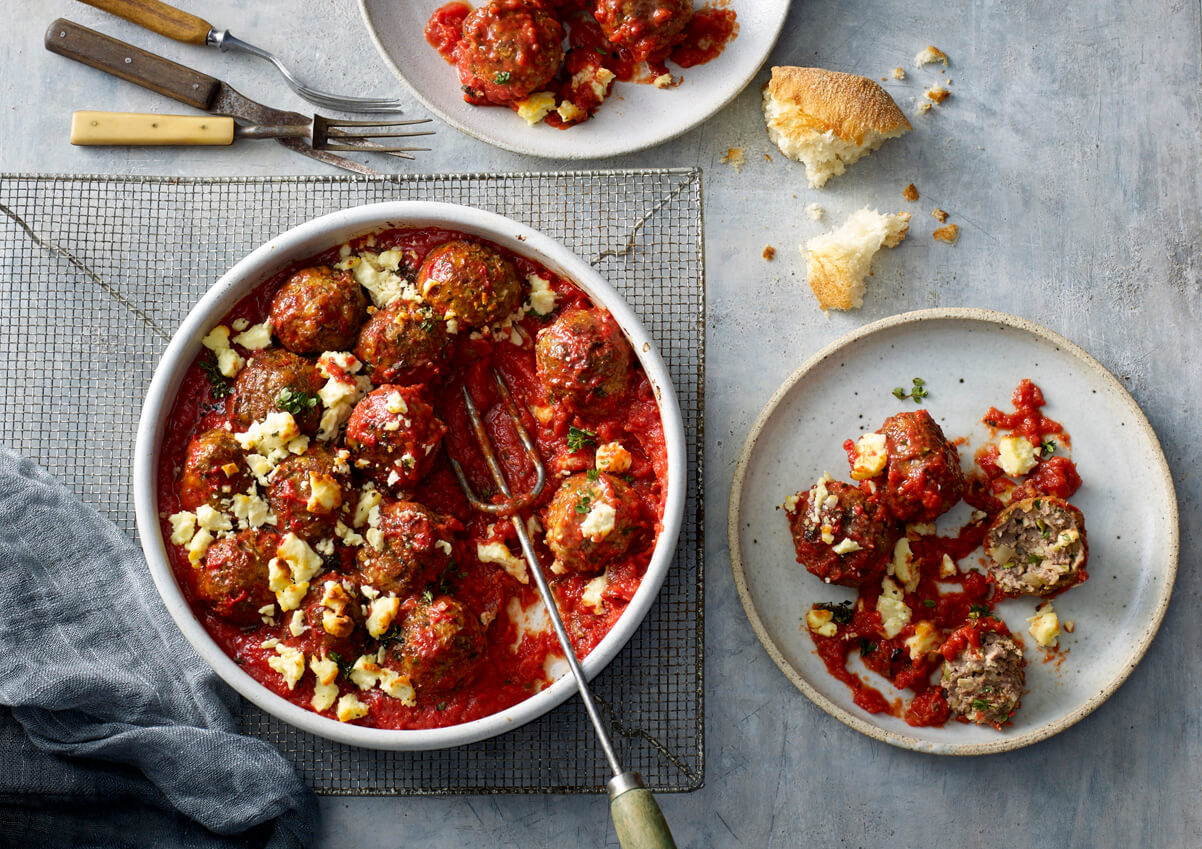 Beef, Zucchini and Haloumi Meatballs BBQ Recipe made with Lemnos Haloumi Cheese