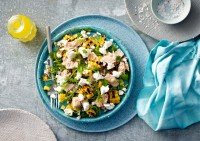 Tuna, Rocket and Corn Salad with Smooth Fetta Recipe made with Lemnos Smooth Fetta Cheese