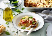Three Cheese Eggplant Lasagne Recipe made with Lemnos Traditional Fetta & Ricotta Cheese