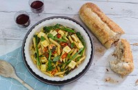Penne with Haloumi, Bacon and Broccolini Mid-week Meal made with Lemnos Haloumi Cheese